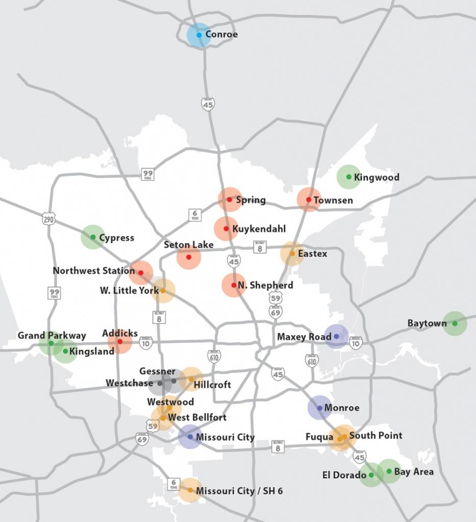 Park & Rides Metro - Map Of Northwest Houston Texas