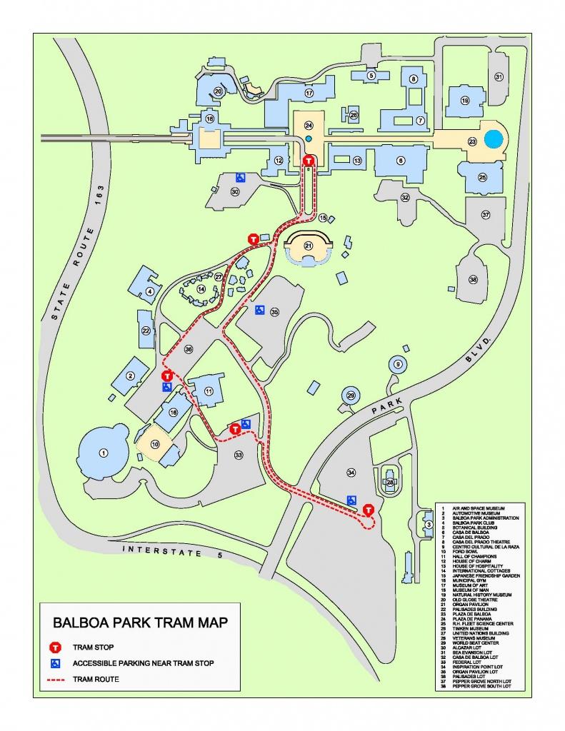 Park Tram   Balboa Park - Map Of Balboa Park San Diego California