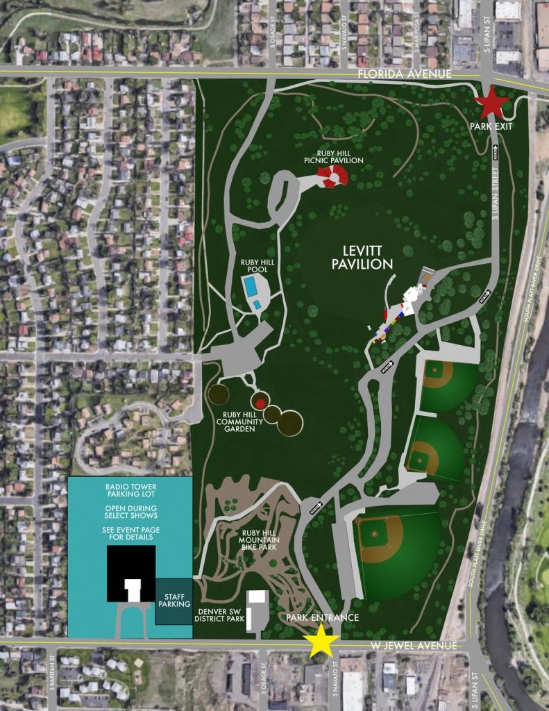 Parking At Levitt Pavilion — Levitt Pavilion Denver - Mid Florida Amphitheater Parking Map