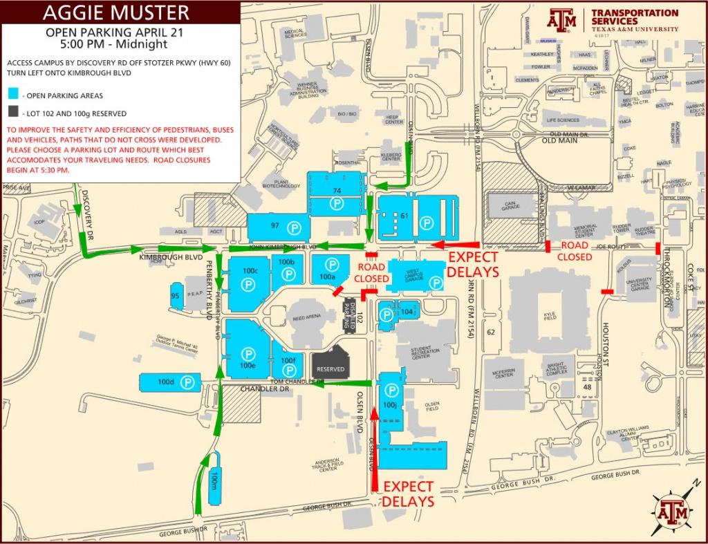 Parking Map Tamu | Dehazelmuis - Texas A&m Location Map
