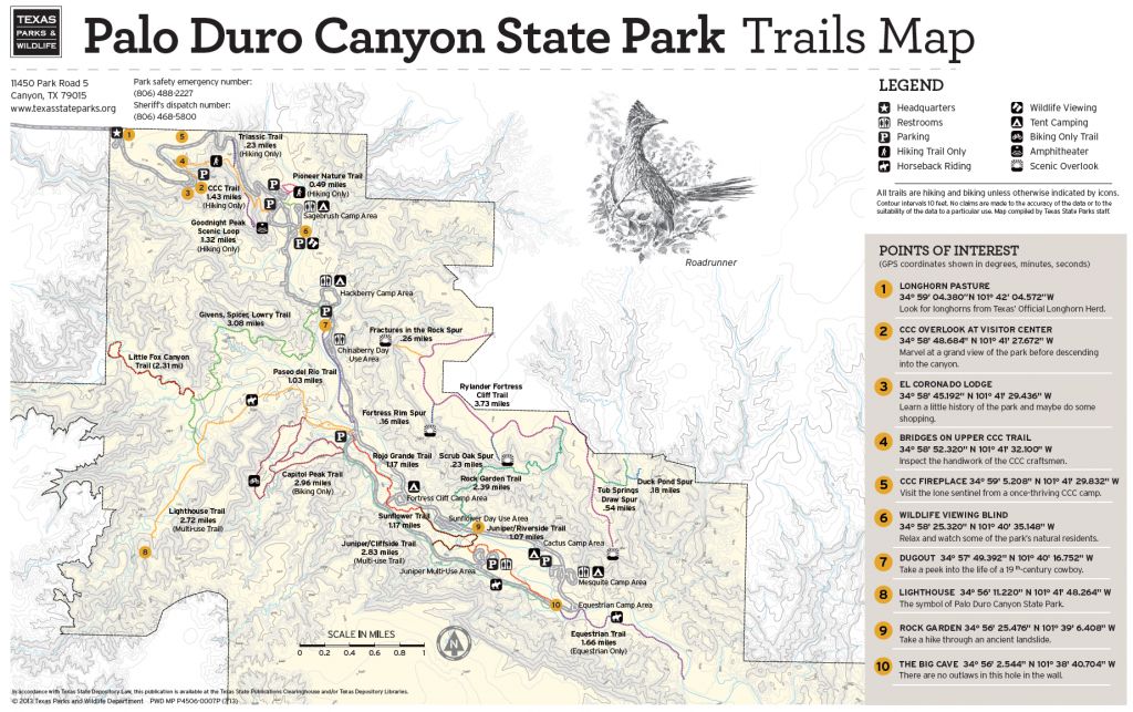 Pdc Trail Map   Texas In 2019   Palo Duro Canyon, Palo Duro, Hiking - Texas Hiking Trails Map