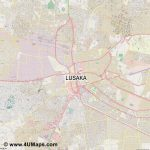 Pdf, Svg Scalable Vector City Map Lusaka   Printable Map Of Lusaka