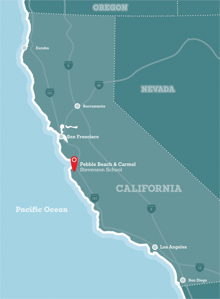 Pebble Beach California Map | Secretmuseum - Beach Map Of California
