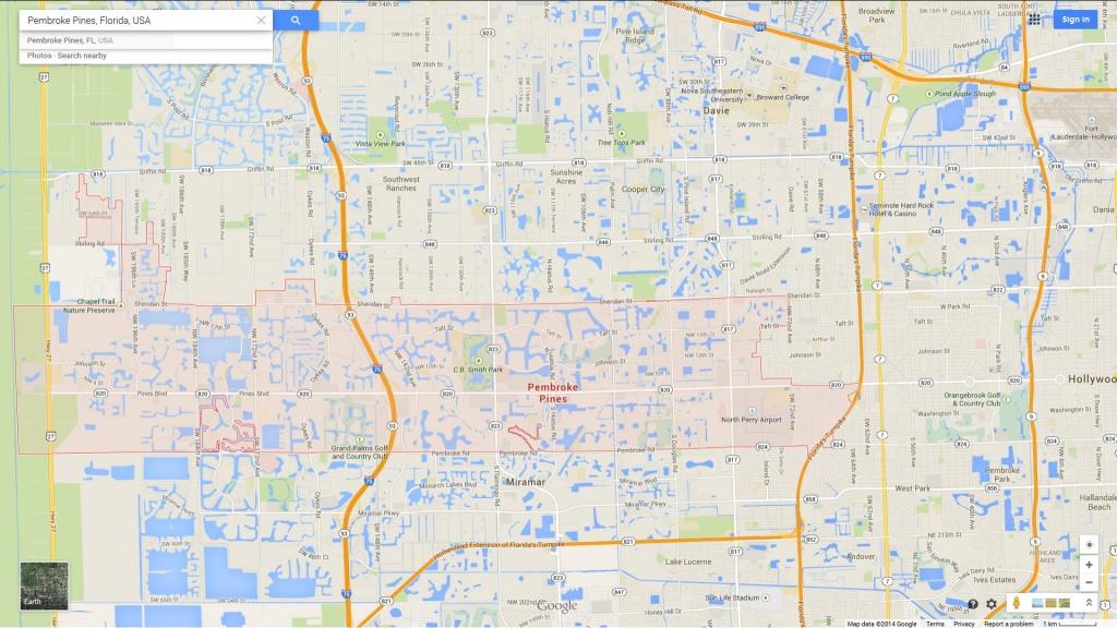 Pembroke Pines, Florida Map - Pembroke Pines Florida Map