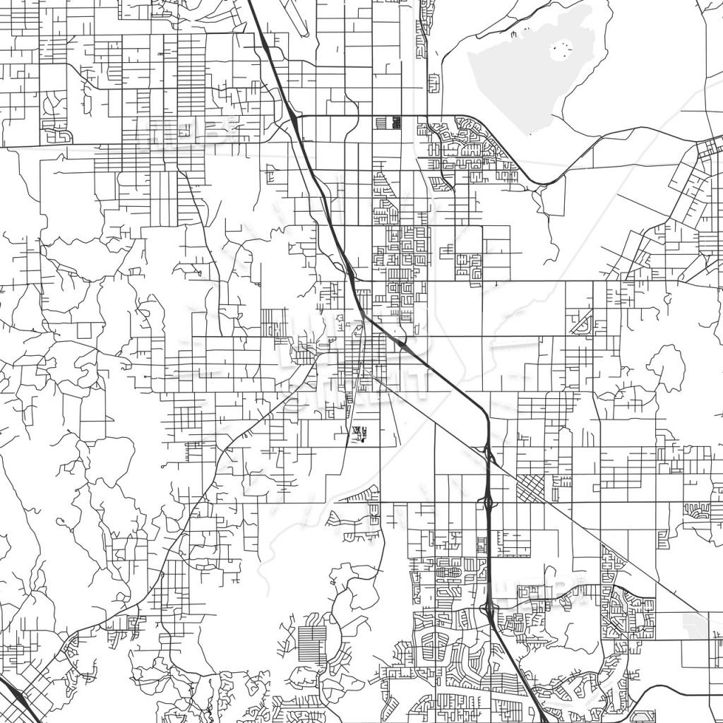 Perris, California - Area Map - Light | Hebstreits Sketches - Perris California Map