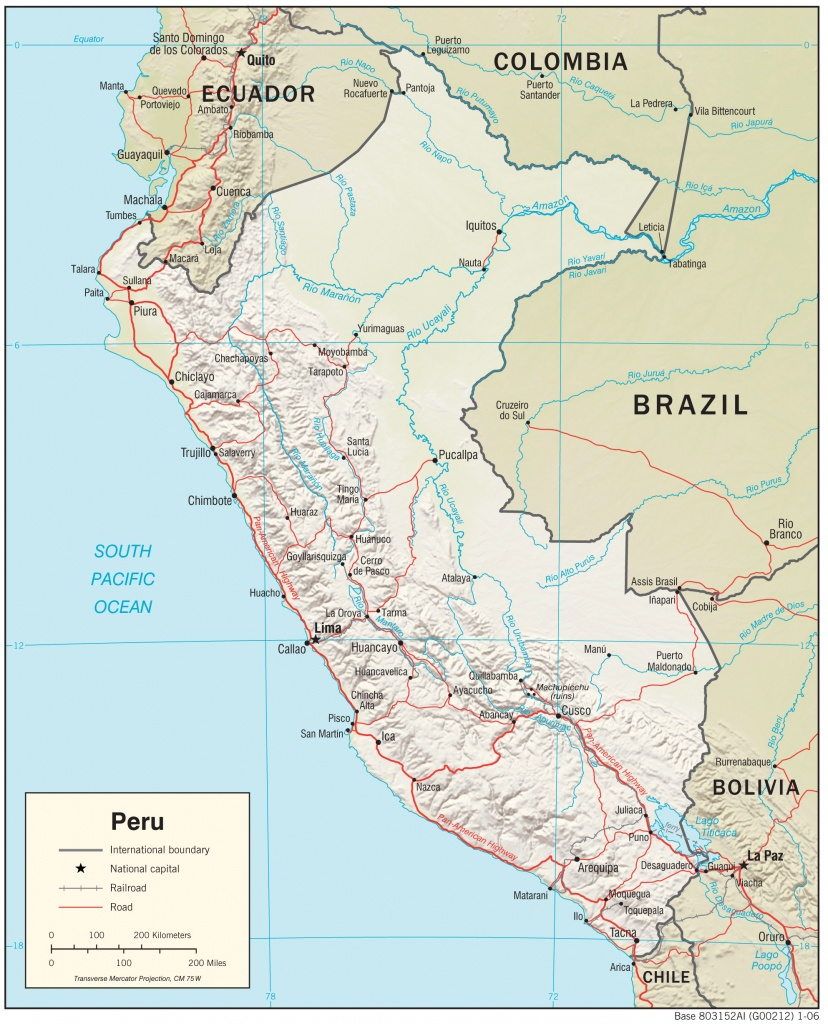 Peru Maps - Perry-Castañeda Map Collection - Ut Library Online - Printable Map Of Peru