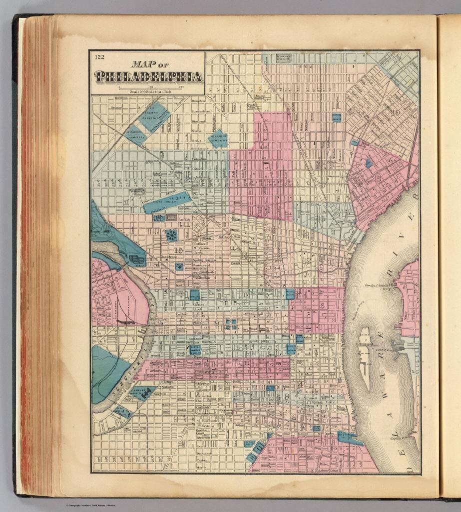 Philadelphia. - David Rumsey Historical Map Collection - Printable Map Of Historic Philadelphia