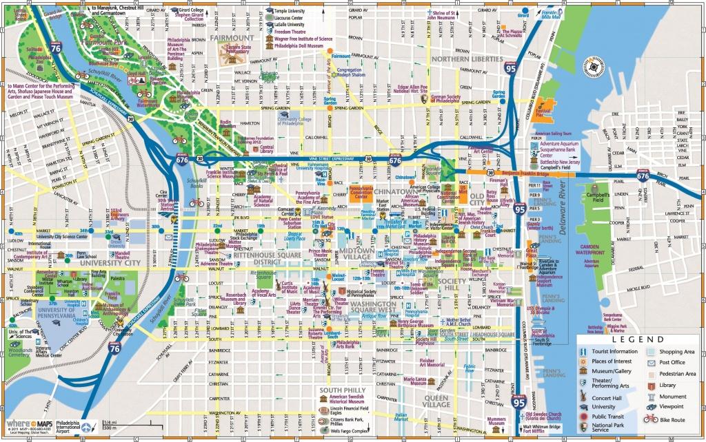 Philadelphia Downtown Map - Downtown Indianapolis Map Printable