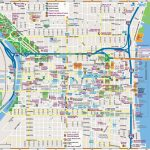 Philadelphia Downtown Map   Printable Map Of Philadelphia Attractions