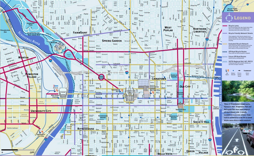 Philadelphia Maps   Pennsylvania, U.s.   Maps Of Philadelphia - Printable Map Of Center City Philadelphia