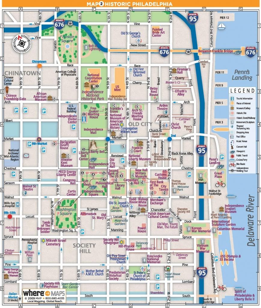 Philadelphia Old City Map - Map Of Old City Philadelphia Printable