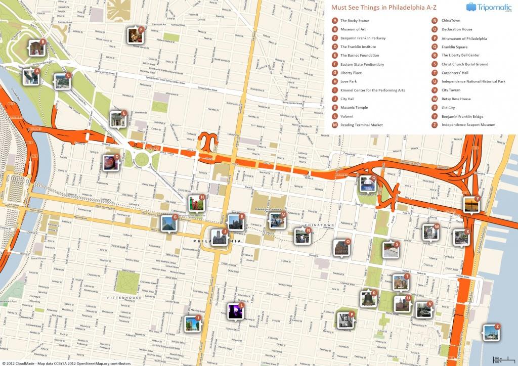 Philadelphia Printable Tourist Map In 2019   Free Tourist Maps - Printable Map Of Historic Philadelphia