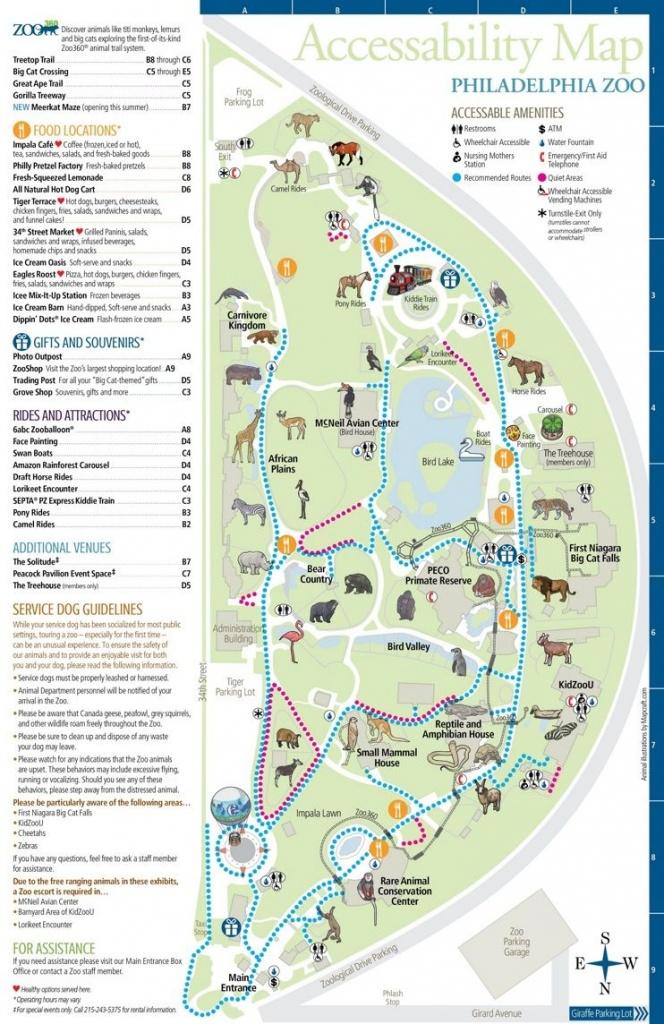 Philadelphia Zoo Map | Places I've Been | Philadelphia Zoo, Zoo Map - Printable Detroit Zoo Map