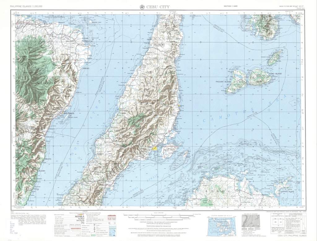 Philippines Ams Topographic Maps - Perry-Castañeda Map Collection - Cebu City Map Printable