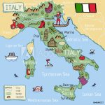 Photo & Art Print Cartoon Vector Map Of Italy For Kids. | Abposters   Printable Map Of Italy For Kids
