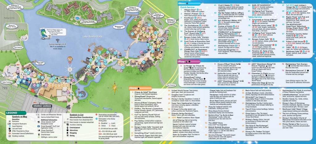 Photos - New Downtown Disney Guide Map Includes Disney Springs Name - Disney Florida Maps 2018