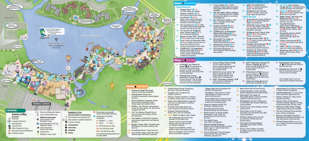Photos - New Downtown Disney Guide Map Includes Disney Springs Name - Disney World Florida Map 2018