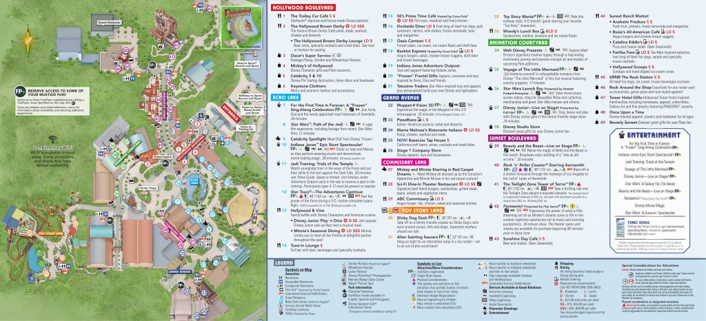 Photos: New Guide Map For Disney's Hollywood Studios Features Toy - Toy Story Land Florida Map