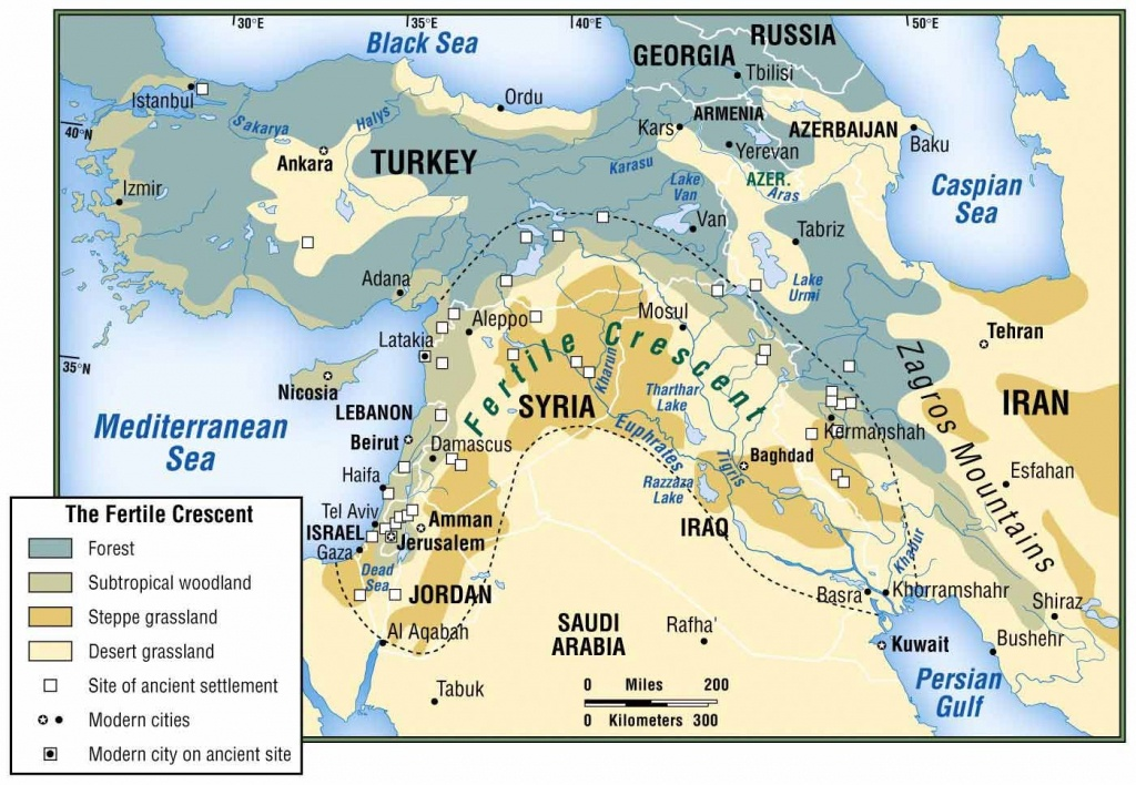 Physical Map Of Fertile Crescent - Google Search   Mesopotamia - Fertile Crescent Map Printable