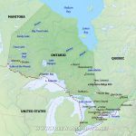 Physical Map Of Ontario   Printable Map Of Ontario