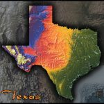 Physical Texas Map | State Topography In Colorful 3D Style   Austin Texas Elevation Map