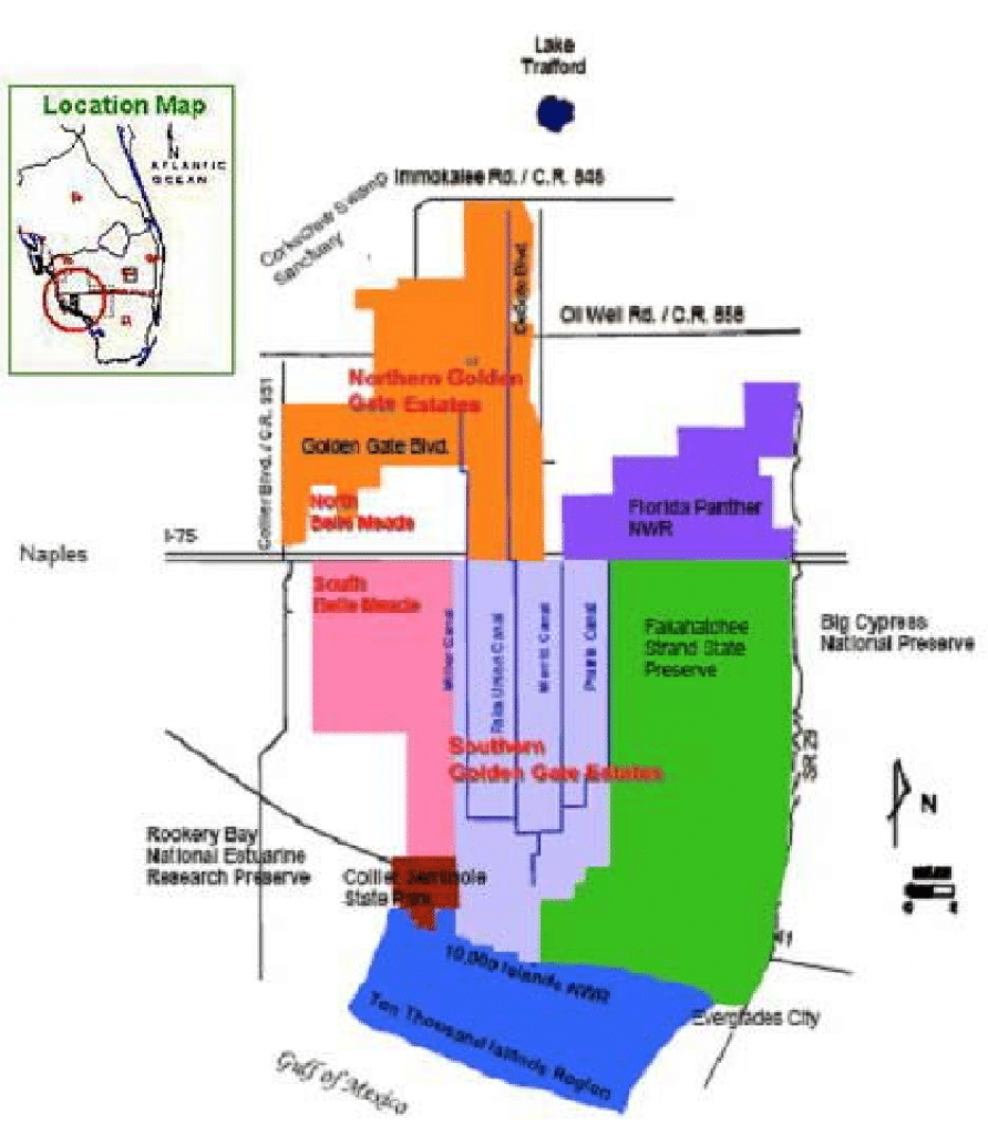 Picayune Strand Restoration Project (Formerly Southern Golden Gate - Golden Gate Estates Naples Florida Map