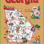 Pictorial Travel Map Of Georgia   Printable Map Of Columbus Ga