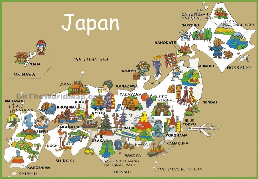 Pictorial Travel Map Of Japan - Free Printable Map Of Japan