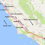 Pictures Of The San Andreas Fault In California   Map Of The San Andreas Fault In Southern California