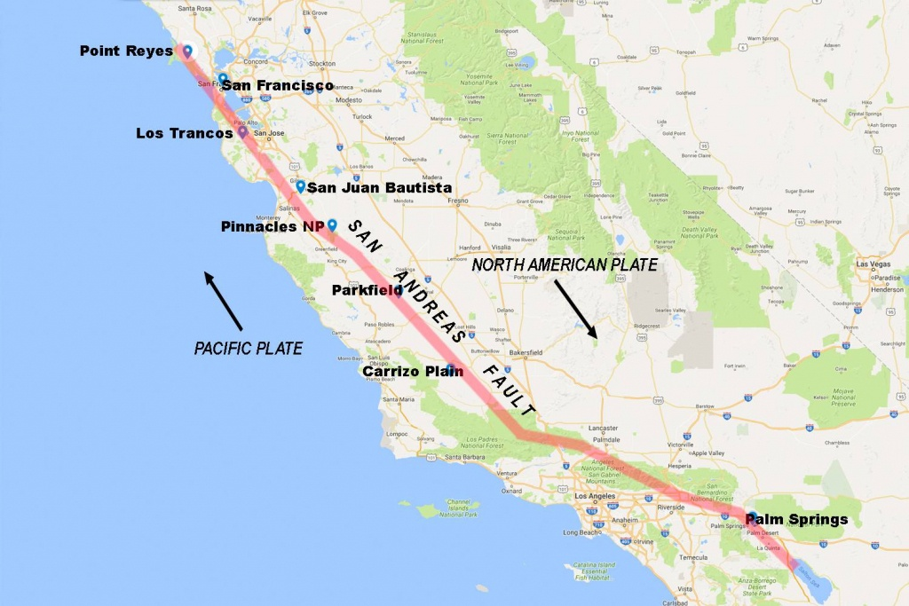 Pictures Of The San Andreas Fault In California - Map Of The San Andreas Fault In Southern California