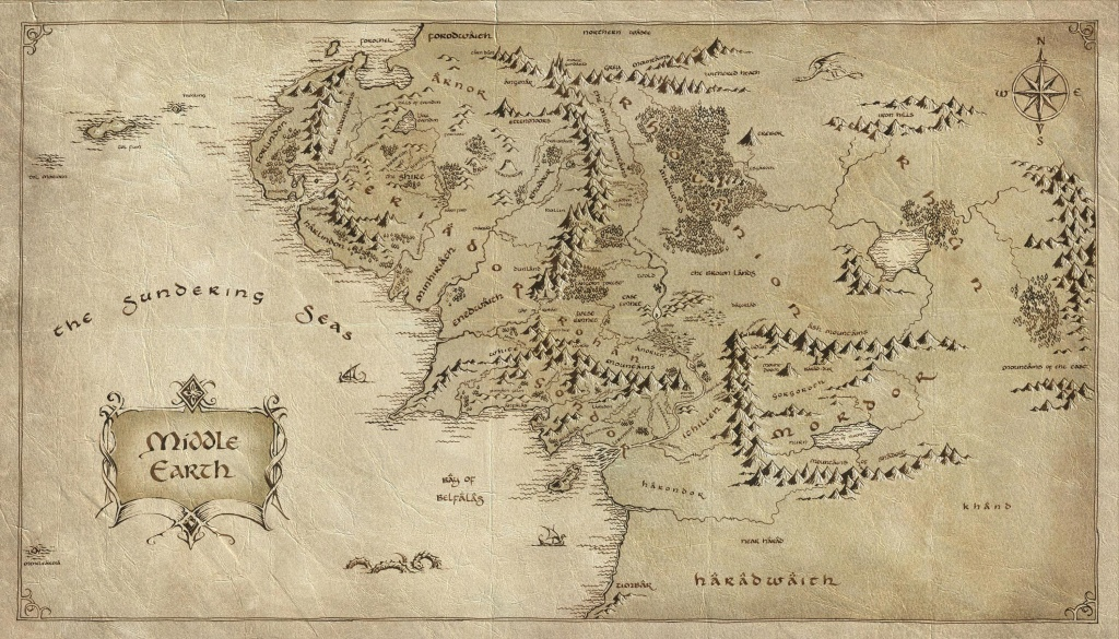 Pinanna Husch On Maps In 2019   The Hobbit Map, Middle Earth Map - Printable Lord Of The Rings Map