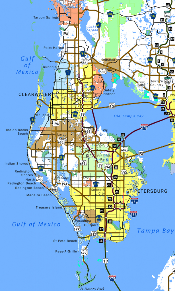 It's just a photo of Universal Printable Pinellas County Zip Code Map