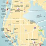 Pinellas County Map Clearwater, St Petersburg, Fl | Florida   Siesta Key Beach Florida Map