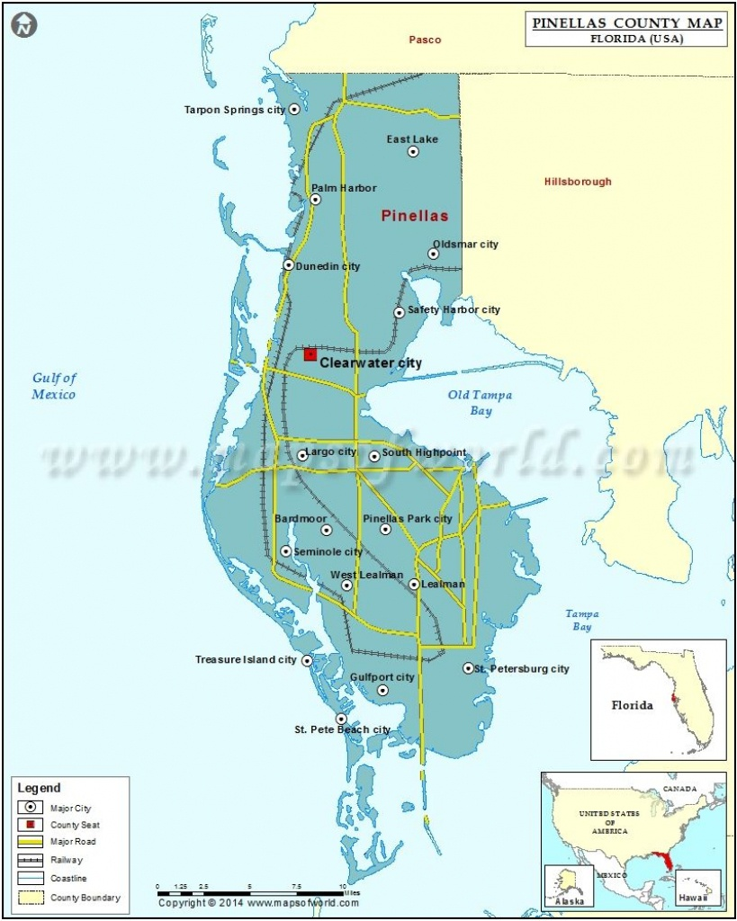 Pinellas County Map   Usa States County Maps   County Map, Map - Map Of Pinellas County Florida