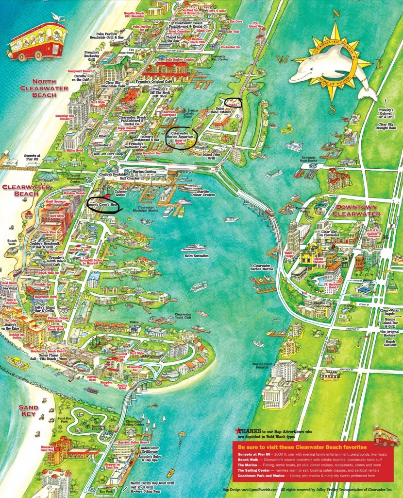 Pinholly Waddell On Clearwater Beach | Florida Vacation - Clearwater Beach Florida Map