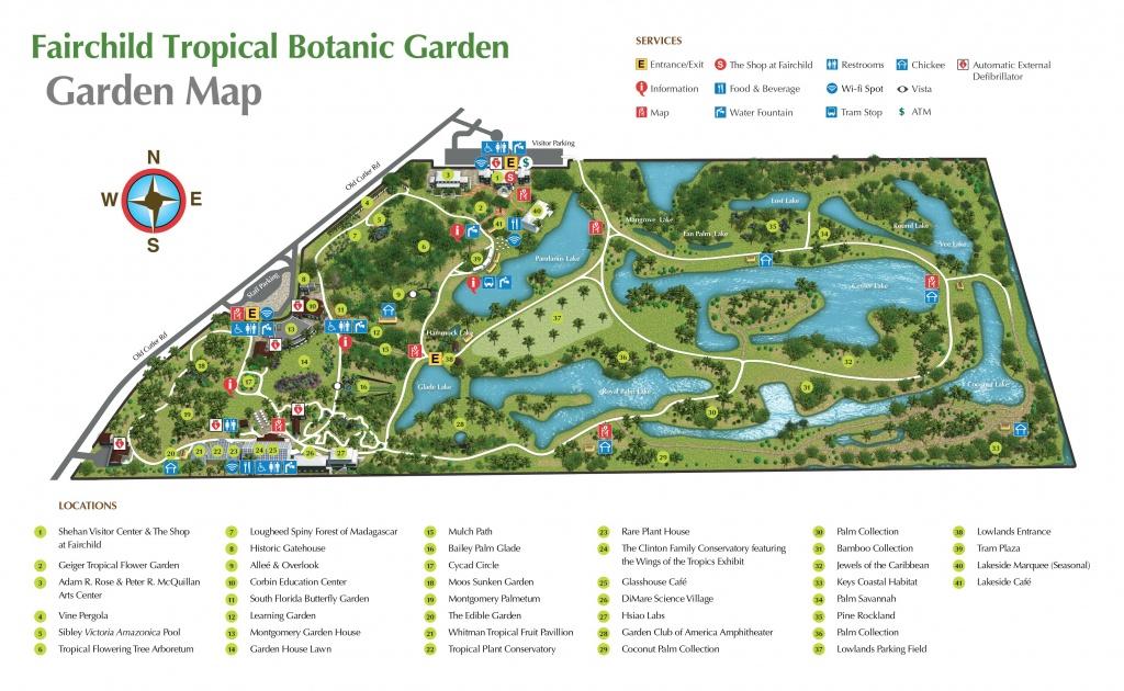 Pinjan On Florida   Botanic Garden Map, Florida Botanical - Florida Botanical Gardens Map