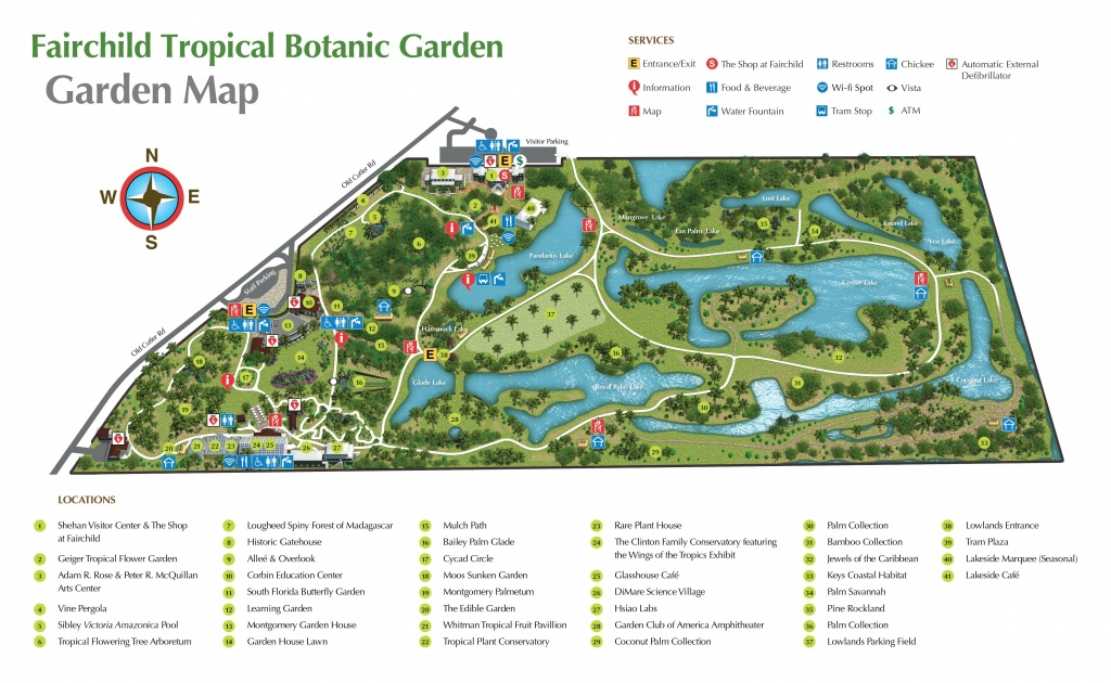Pinjan On Florida | Botanic Garden Map, Florida Botanical - Florida Botanical Gardens Tourist Map