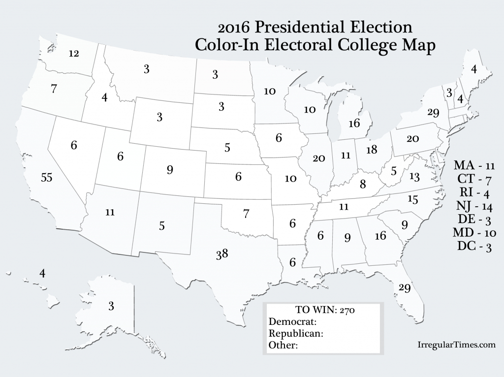 Pinlawren Roulier Casagrande On Election Party | Us State Map - 2016 Printable Electoral Map