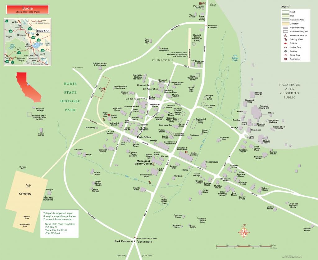 Pinmia Atelier Mia On Bodie State Historic Park | State Parks - Bodie California Map