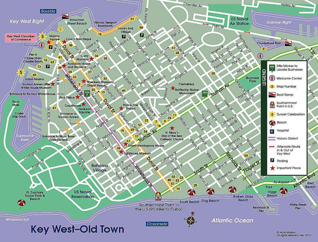 Pinpat Fann Fink On Florida | Key West Map, Florida Keys Map - Street Map Of Key West Florida