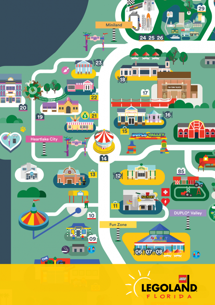 Pinsithu A On Typography/ Graphic/ Illustrations   Legoland - Legoland Florida Map
