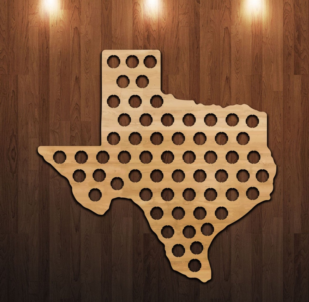 Pinthacker Jewelry On Father's Day Fun | Beer Bottle Caps, Beer - Texas Beer Cap Map