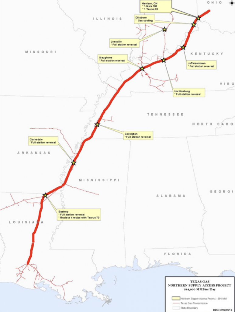 Pipeline Construction Project Gets Extra Time - Texas Gas Pipeline Map