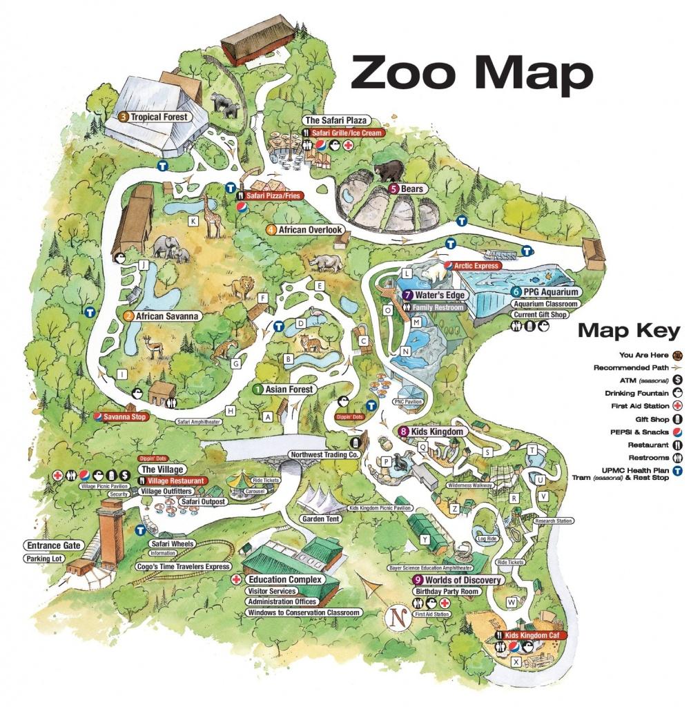 Pittsburgh Zoo Map - Printable Detroit Zoo Map
