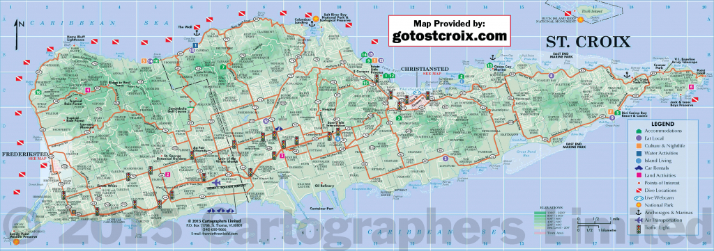 Plan Your Travel, Island Maps Of St. Croix   Gotostcroix - Printable Map Of St Croix