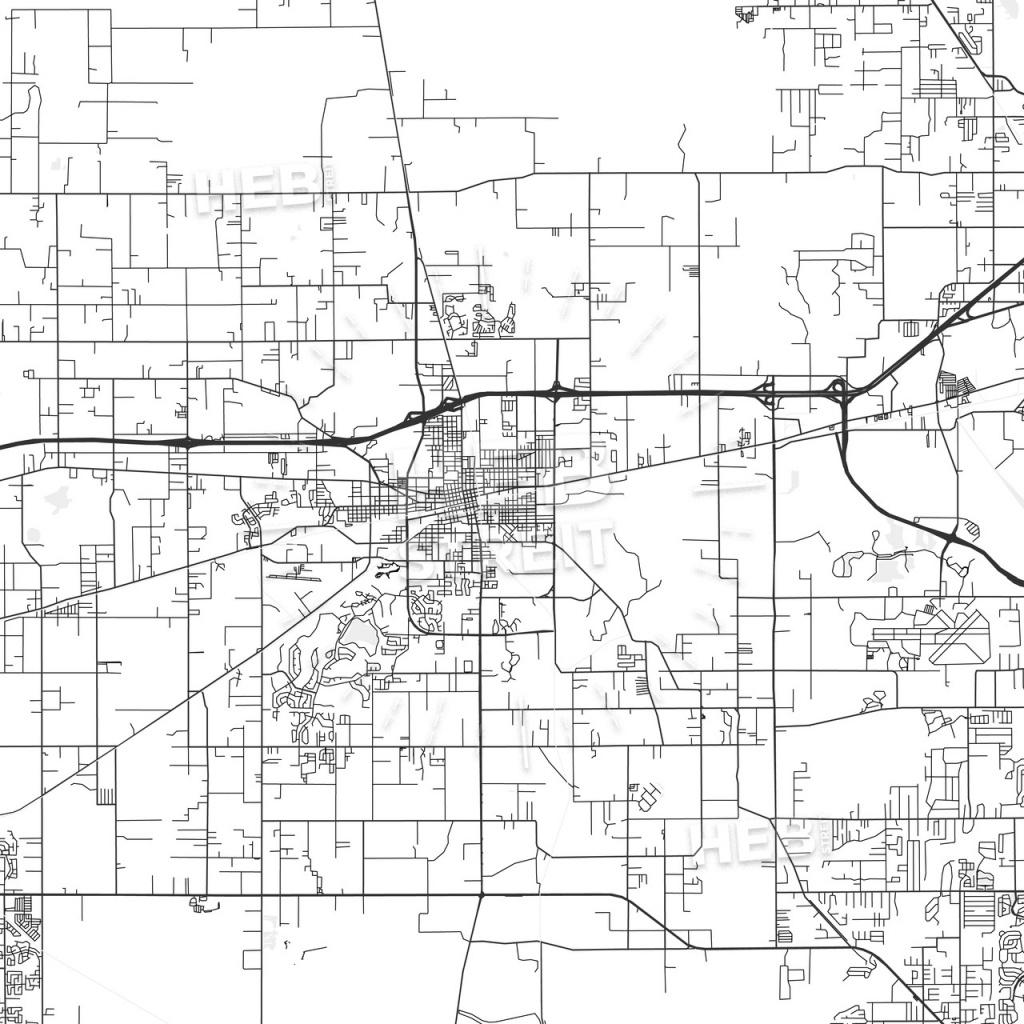 Plant City, Florida - Area Map - Light   Hebstreits Sketches - Plant City Florida Map