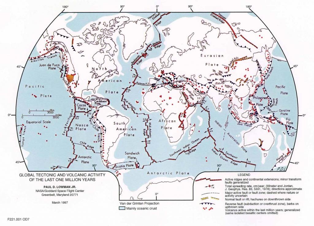 Plate Tectonics Map - Plate Boundary Map - World Map Tectonic Plates Printable