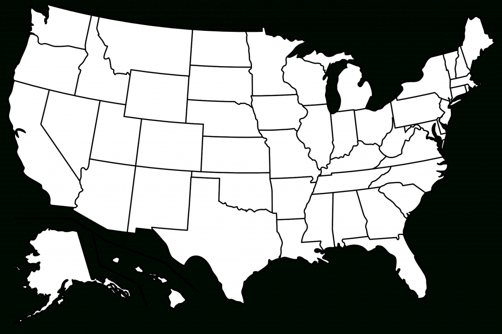 Png Usa Outline Transparent Usa Outline Images. | Pluspng - Map Of United States Outline Printable