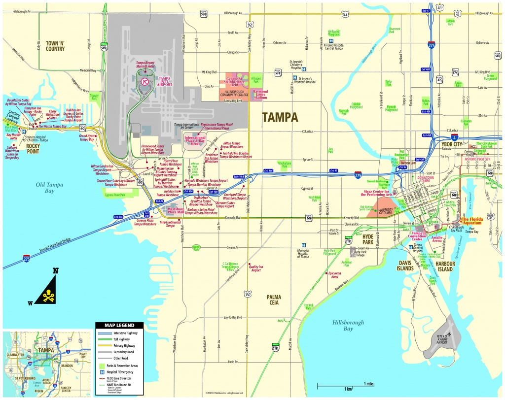 Pocket Map - Cruise Terminal Tampa Florida Map