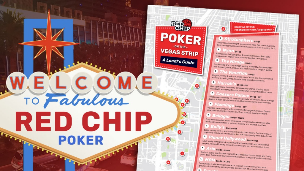 Poker Rooms Of The Vegas Strip: A Local's Guide (Updated 2019) | Red - California Poker Rooms Map